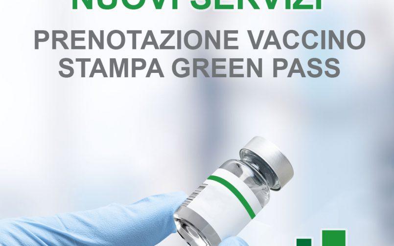 Prenotazione vaccino e stampa Green Pass